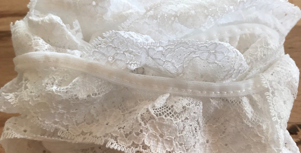 White ruffle lace remnant