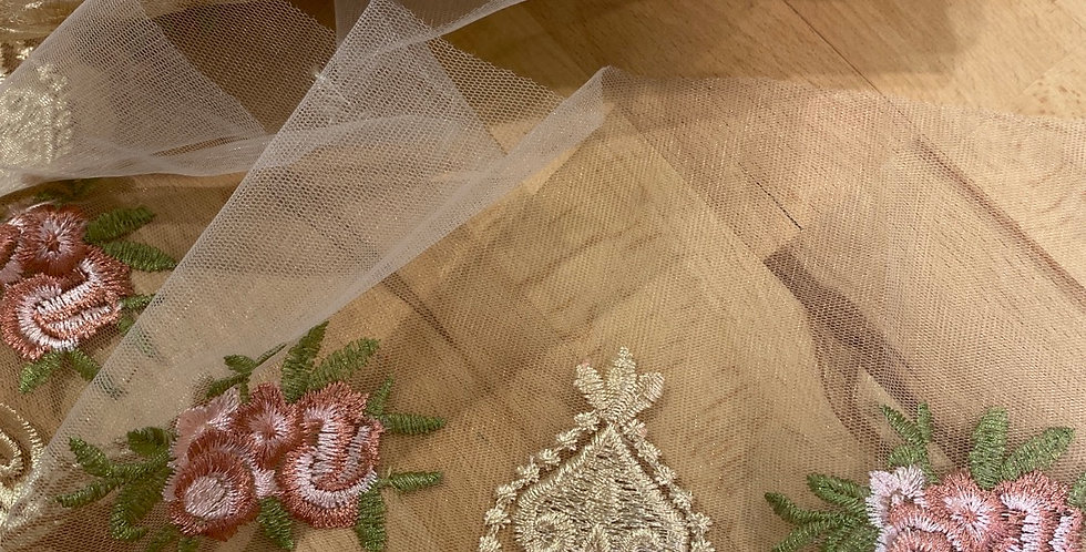 duchess embroidered trim