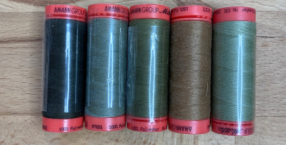 Metrosene Mixed Khaki Thread Pack #1