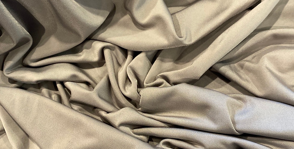 Taupe Silky Polyester Jersey…