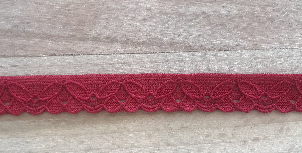 Cherry Red Lace Edging...