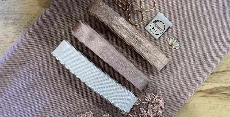 Dusty Rose Mottled Hand Dyed Ruby Bralette Kit…