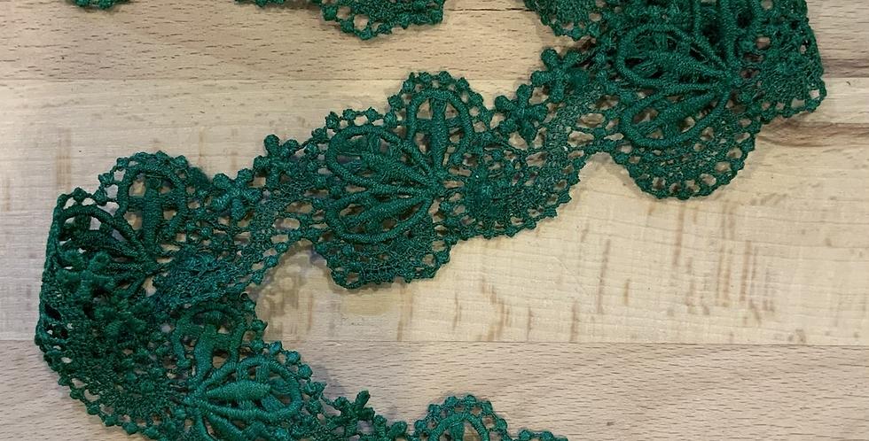 Fantail Emerald Guipure Lace...