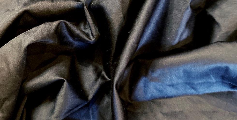 black lightweight polished cotton remnant