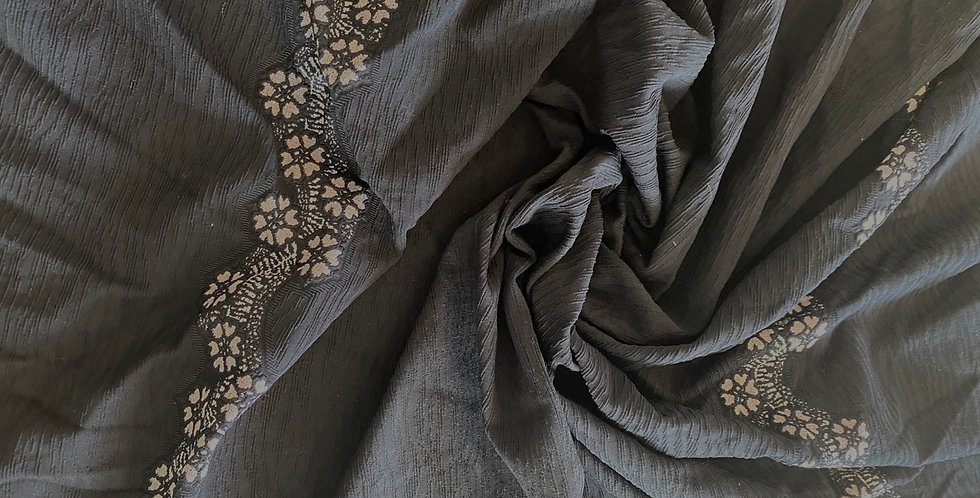 Textured printed double knit remnant