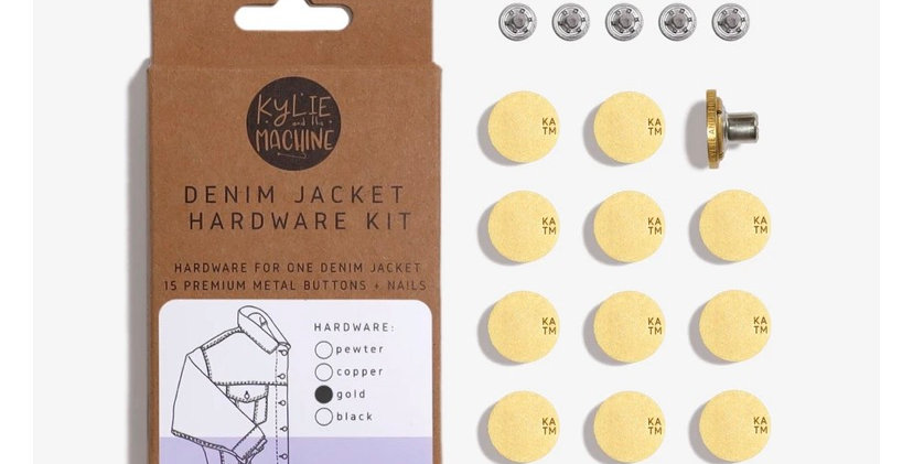 KATM denim jacket hardware kit MATTE GOLD