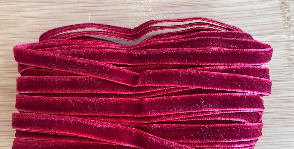 ruby red 6mm velvet ribbon