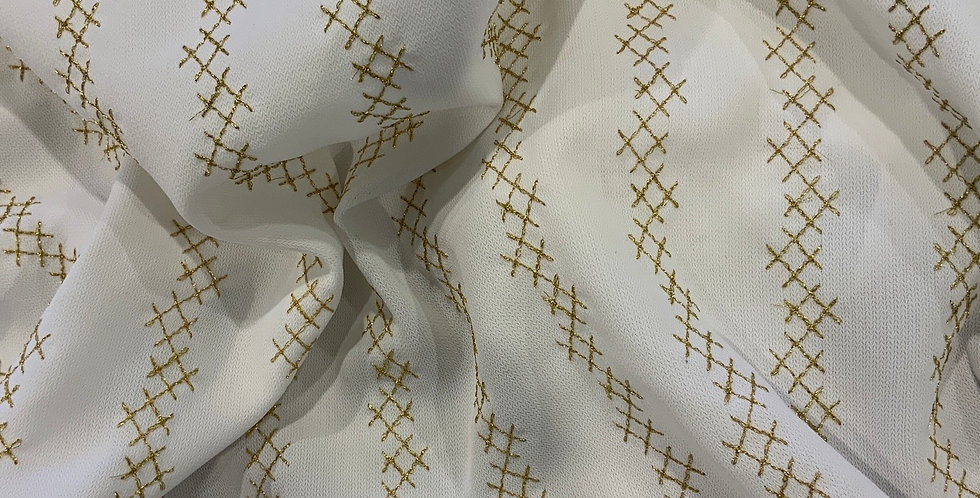 Lurex Embroidered Polyester Remnant...