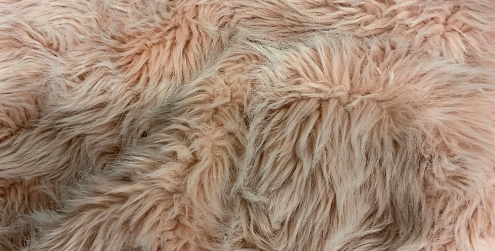 Dusty Pink Thick Pile Fur Piece....