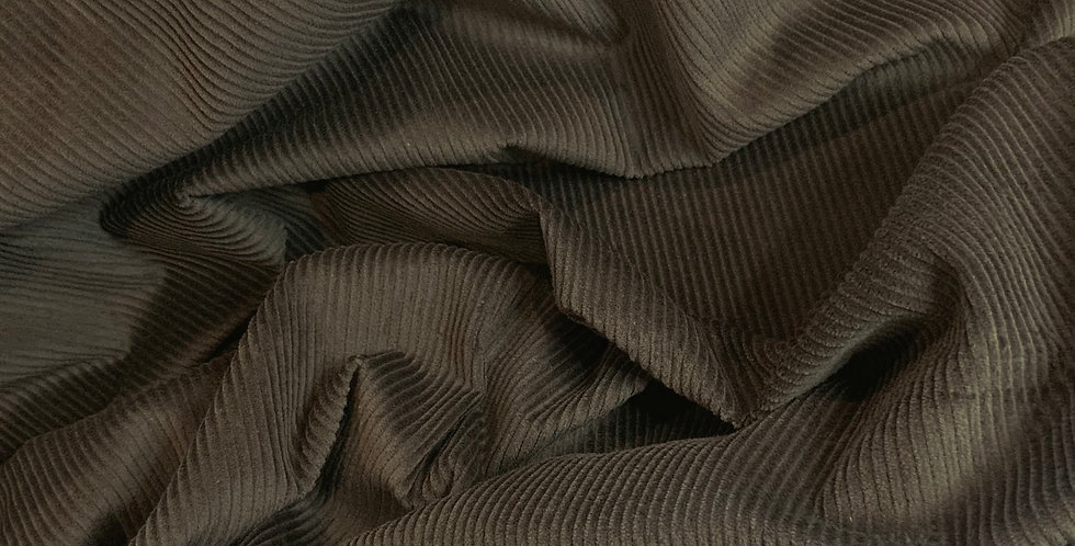Khaki Stretch Cotton Corduroy 3.5mtr piece