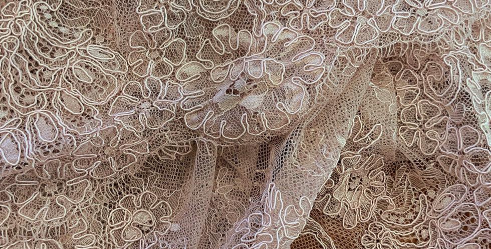 Ruby Mocha Fine Corded Chantilly Lace...