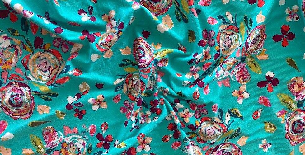 art gallery fabrics swifting flora boho organic cotton knit