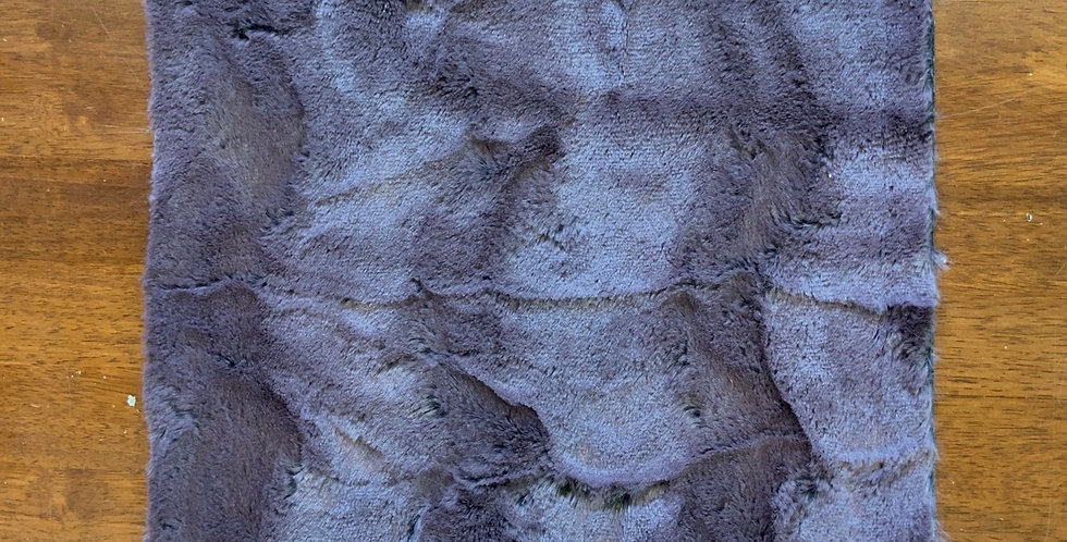 Low Pile Deep Dusty Grey/Pink Fur Piece....