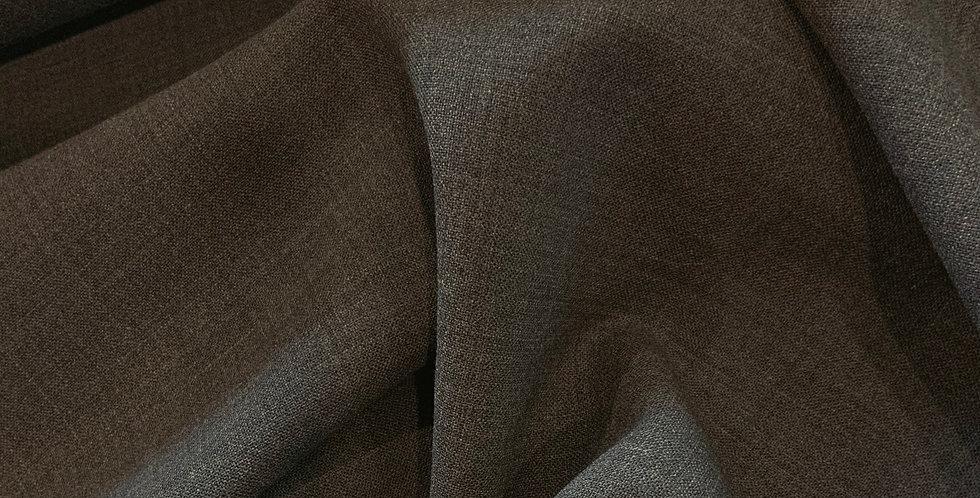 Dark Grey Fleck Two Way Stretch Wool Suiting....