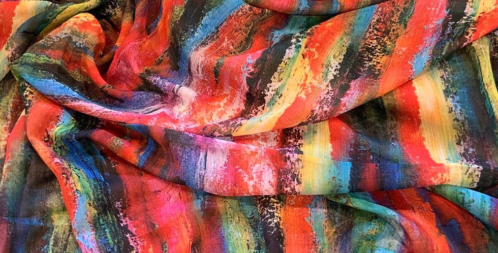 Street Art Crinkle Polyester Georgette...