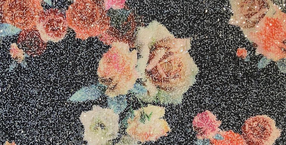 Rose Sequin Viscose Jersey Remnant...