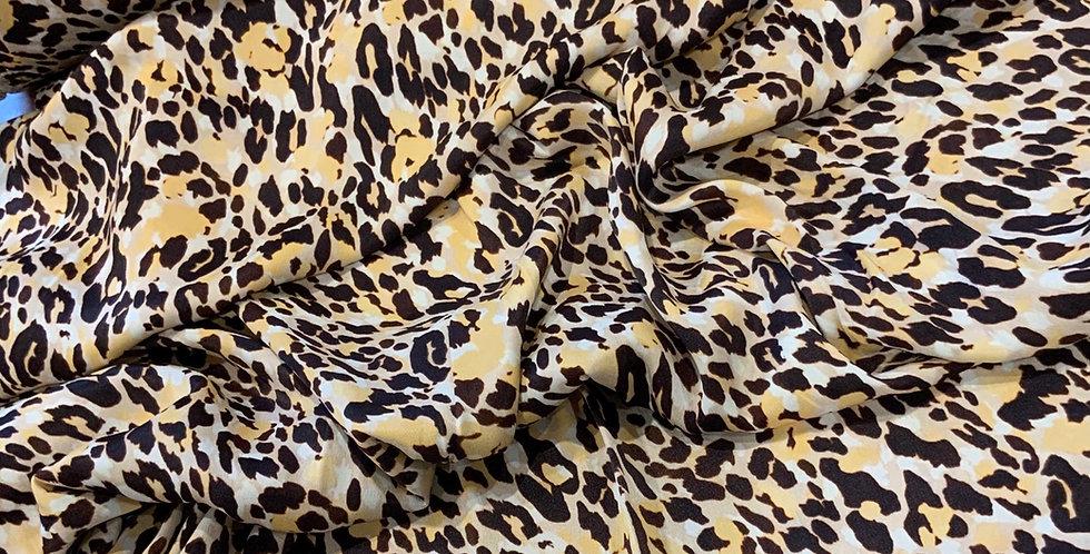 Luxe Leopard De-Lustred Viscose Satin