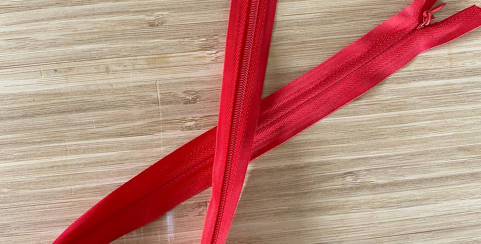 red 55cm invisible zip