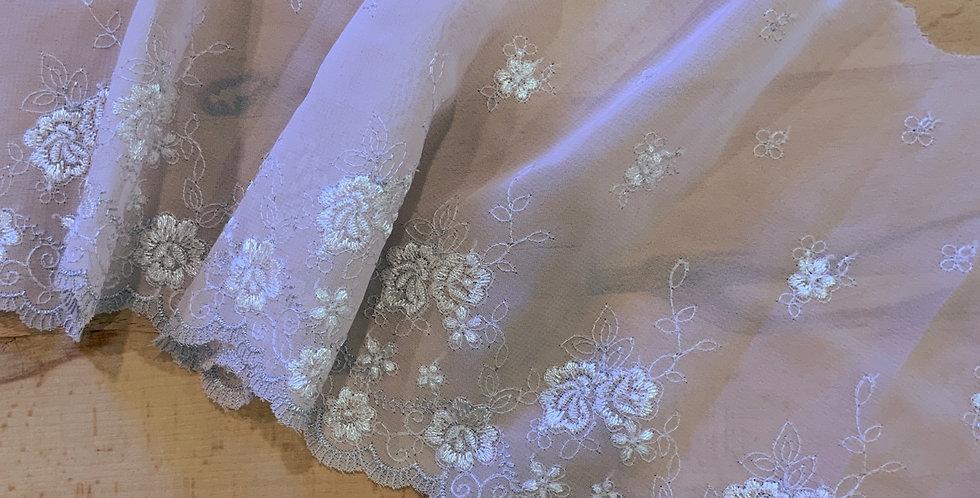 Alecia Embroidered Georgette Lace...