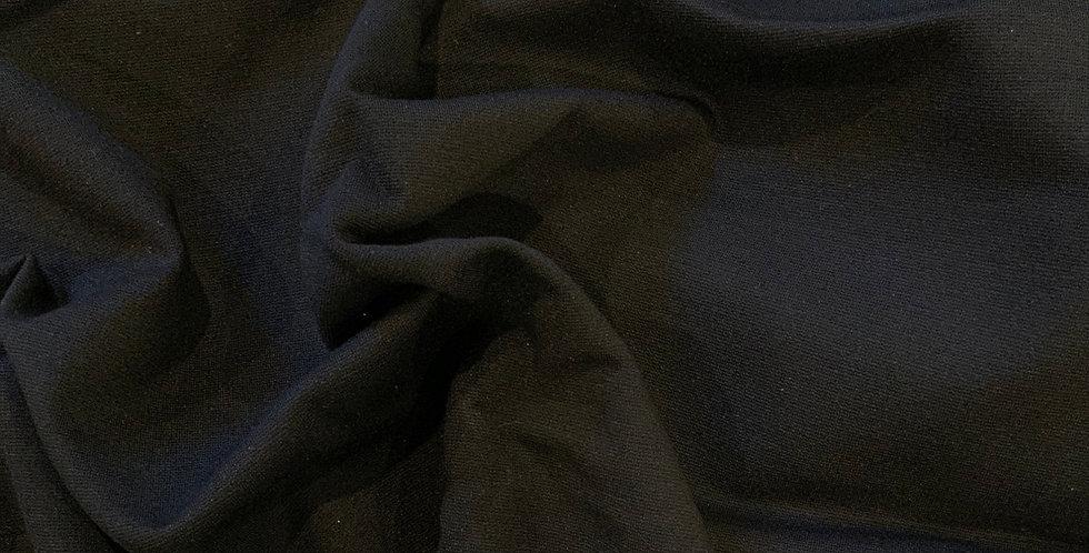 Black Ponte Knit Remnant