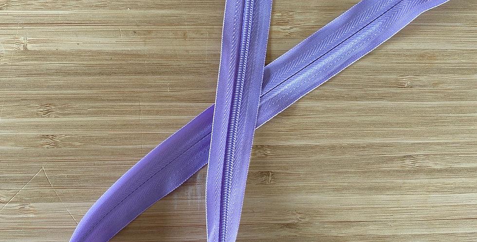 mauve 55cm invisible zip