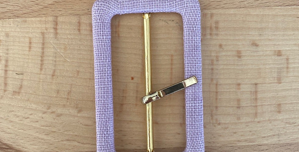 Mauve linen covered buckle