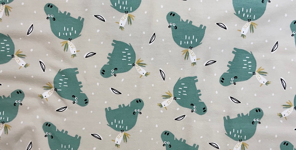Hippo Piggyback Domotex French Cotton Spandex Knit
