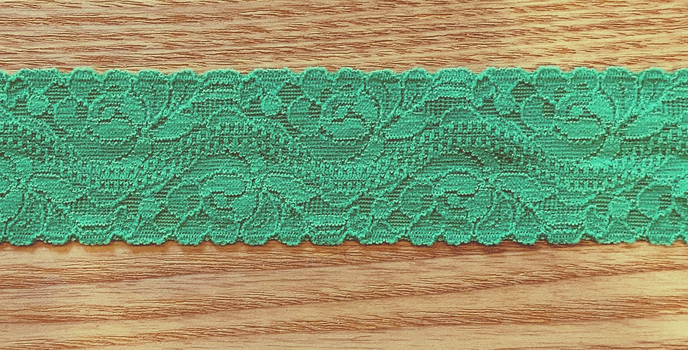 Grass Green Hand Dyed Stretch Lace...