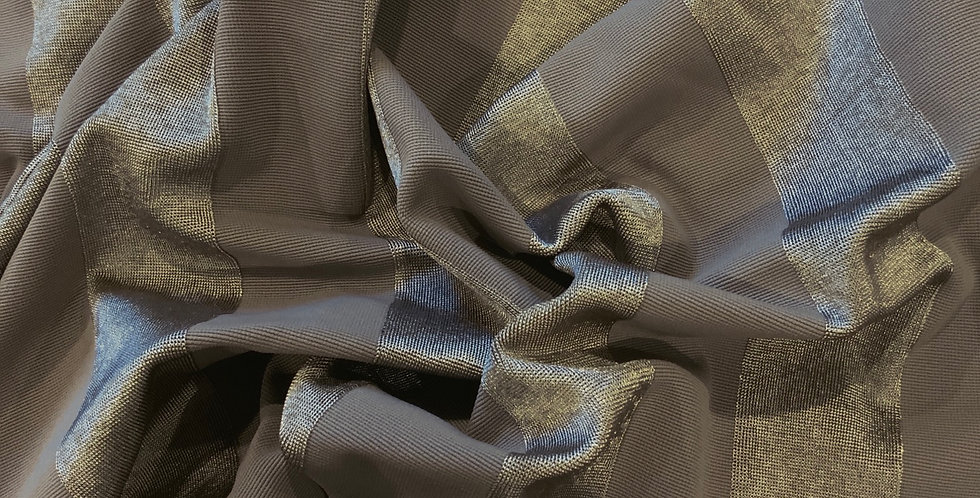 Taupe Self Stripe Jersey Remnant
