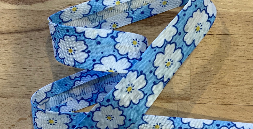 Blue Petal Bias Binding