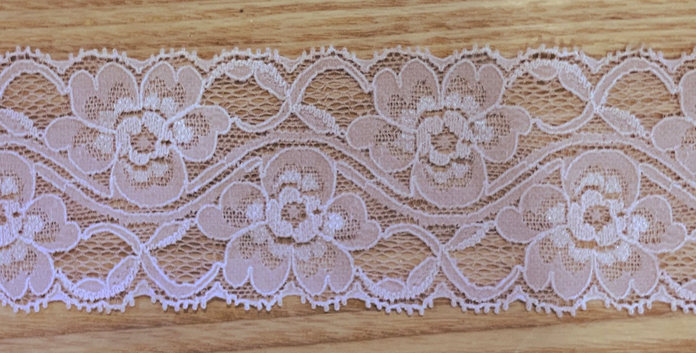 Dusty Mocha Pink Hand Dyed Stretch Lace....
