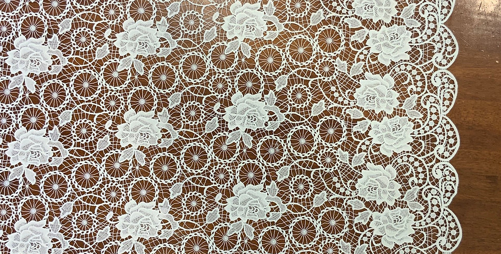 Rose White Guipure Lace....