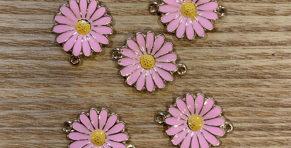 Pink Daisy Double Hook Charm...