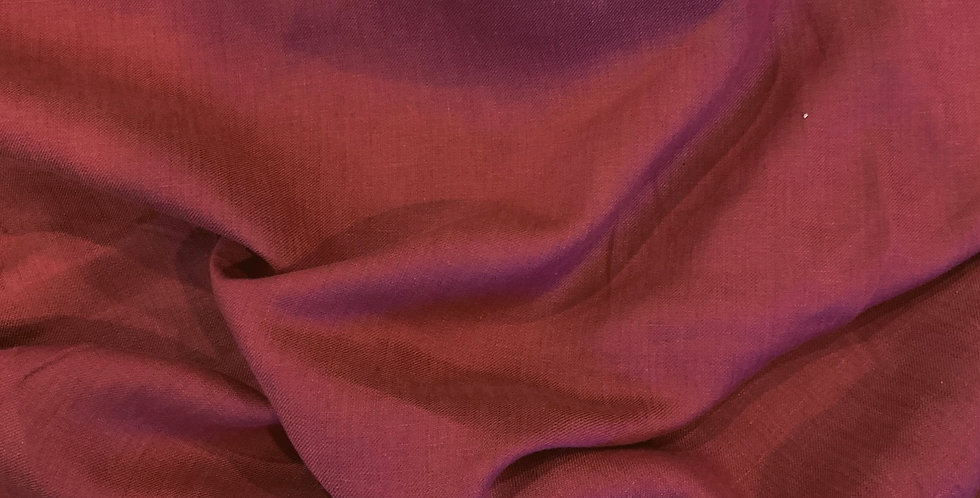 Raspberry Rust Viscose Linen Twill Suiting...