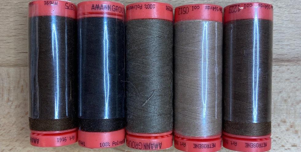 Metrosene Mixed Browns Thread Pack #1