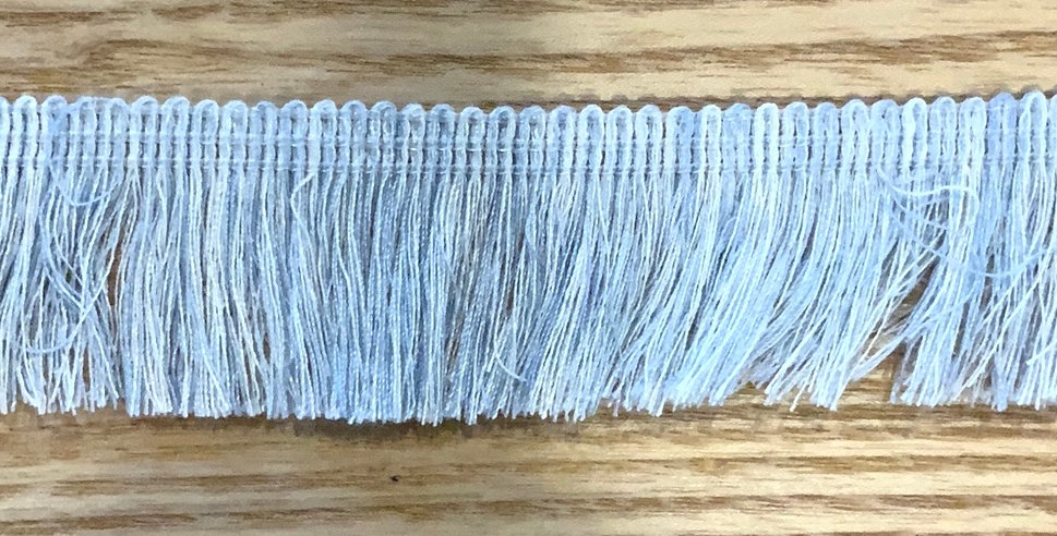 Pale Blue and White Cotton Fringing...