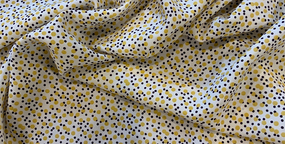 Cosmos Stretch Polyester Crepe de Chine Remnant