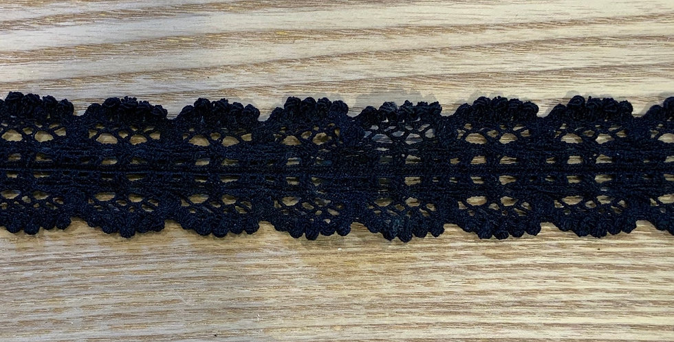 Black Crochet Stretch Lace...