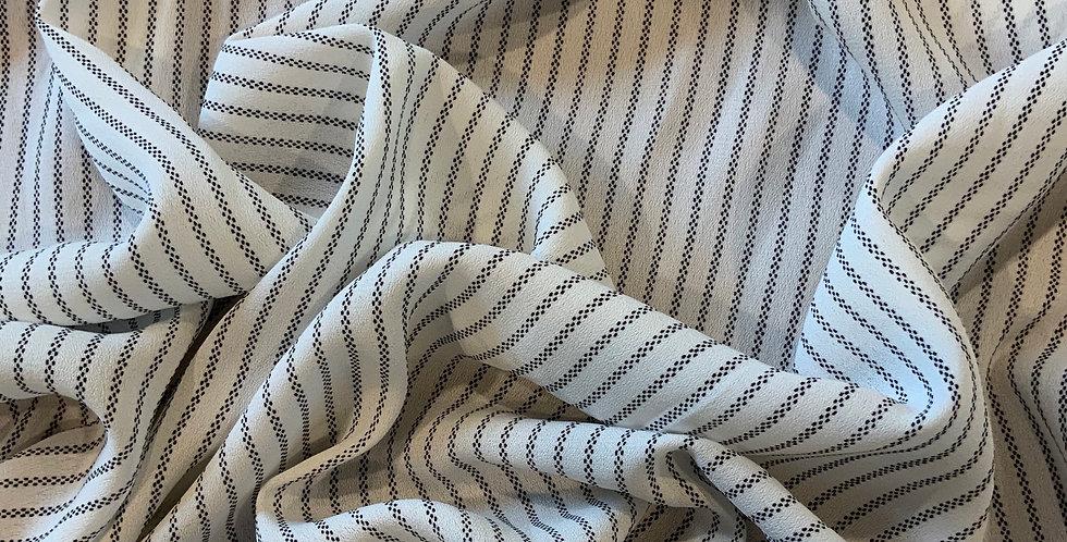 Havana Stripe Tripple Georgette Polyester....