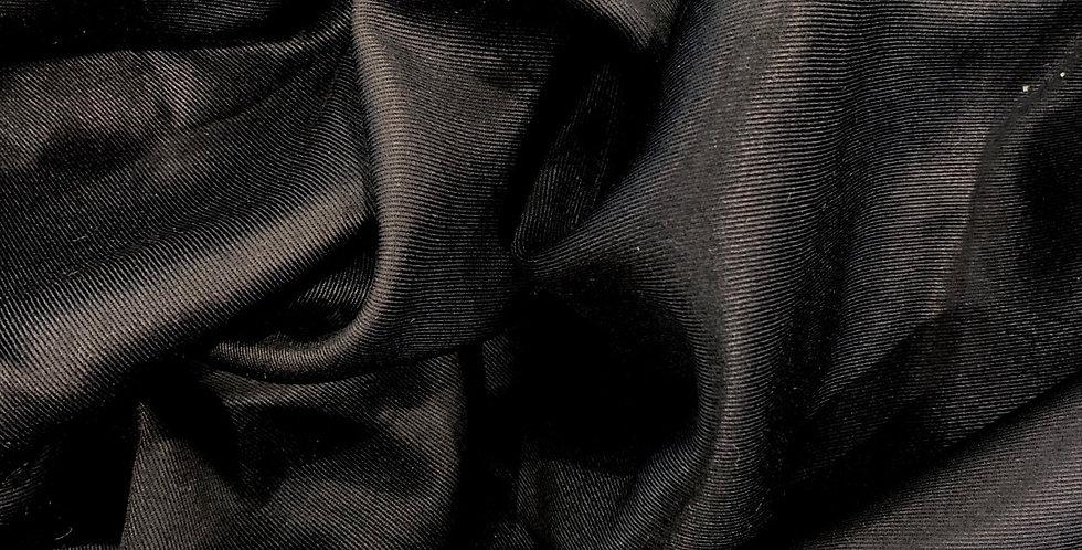 black viscose twill suiting