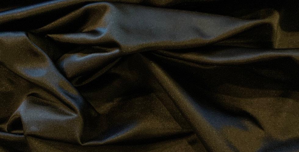 Black De Lustred Polyester Satin Taffeta...