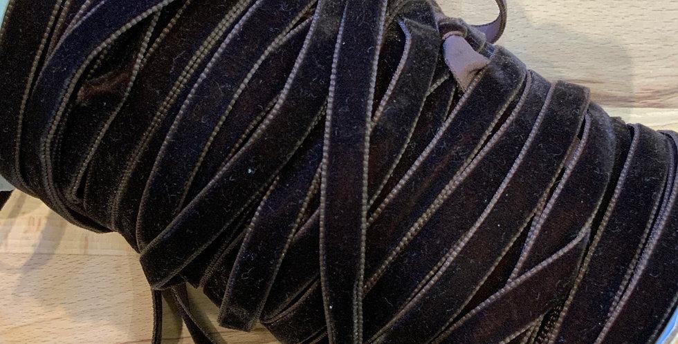 Chocolate 10mm Velvet Ribbon