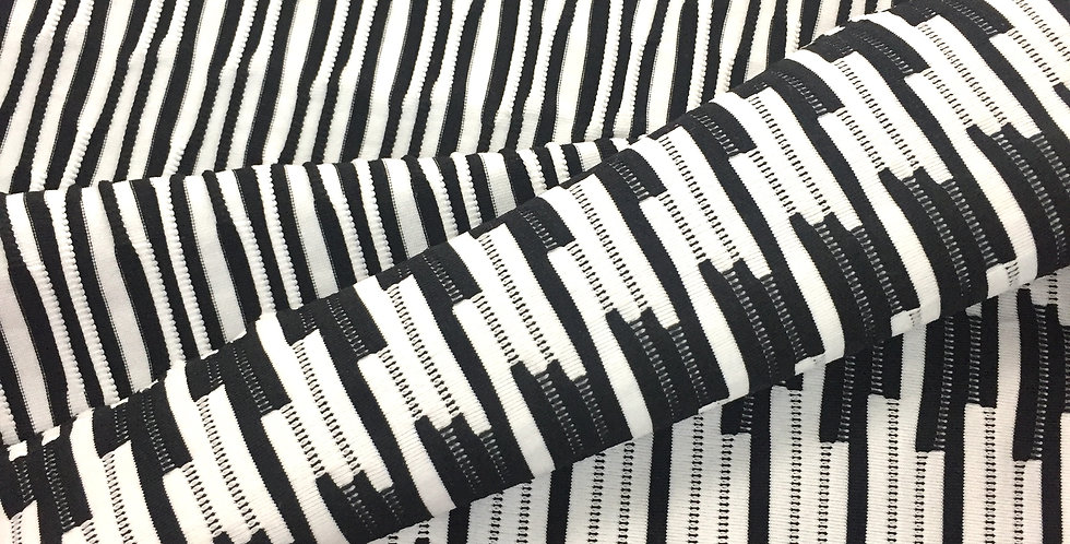 Black and white optical knit