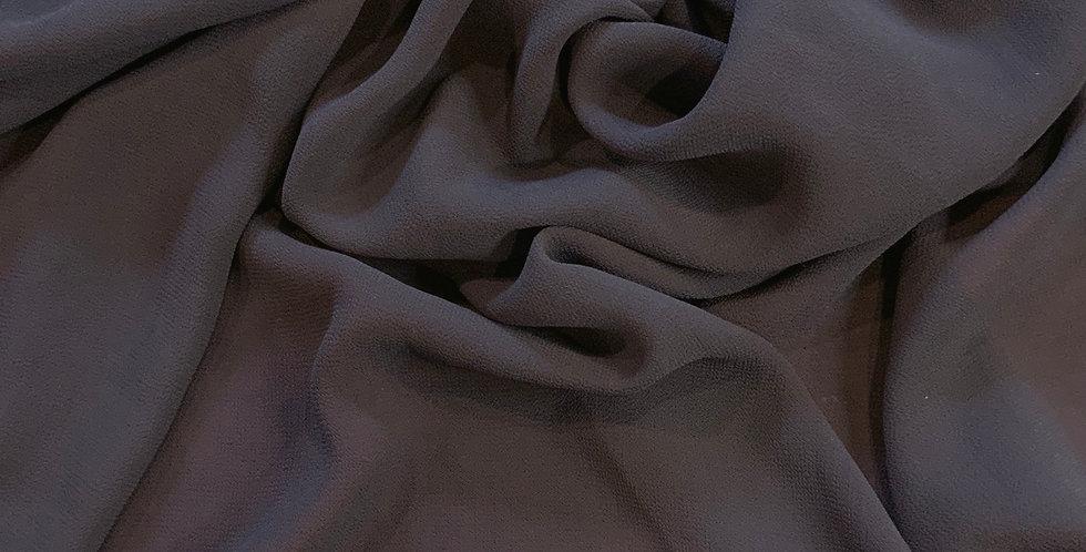 Dark Grey Polyester Georgette Remnant