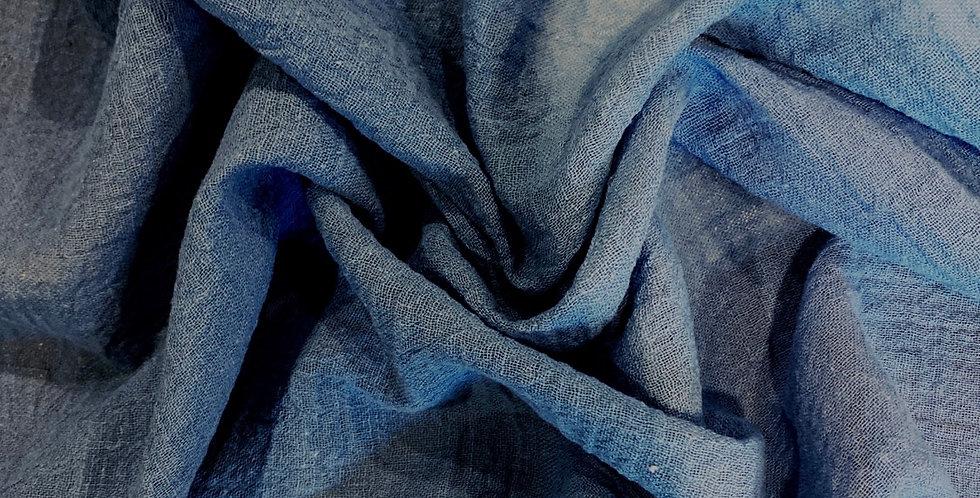 Wedgewood blue crinkle cotton gauze