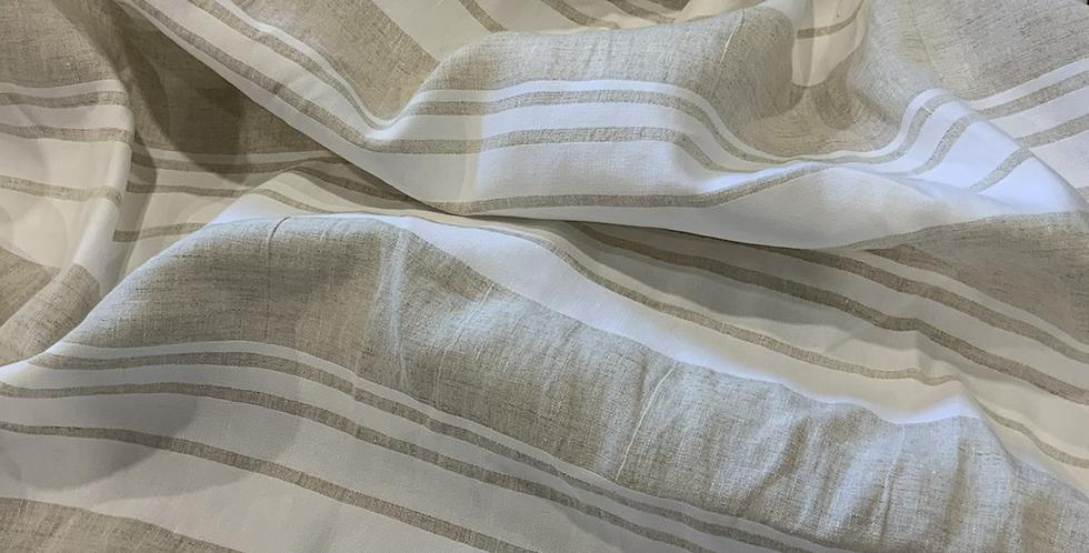 Coastal Fawn Stripes Linen...