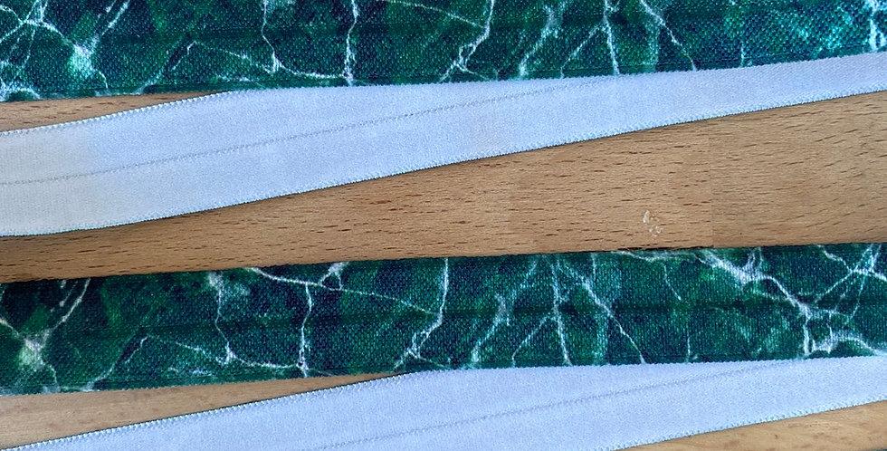 Emerald marble fold over elastic