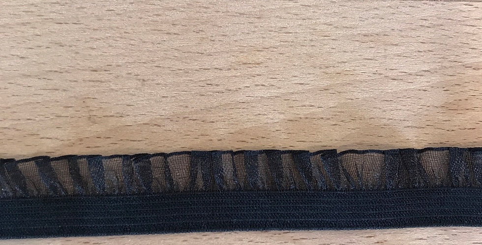 Black Organza Frill Elastic....