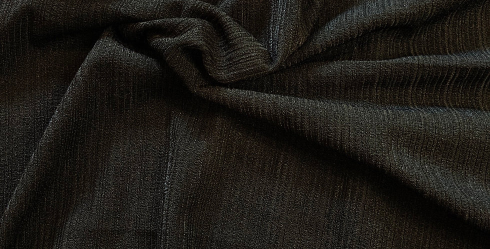 Black Textured Polyester Jersey Remnant