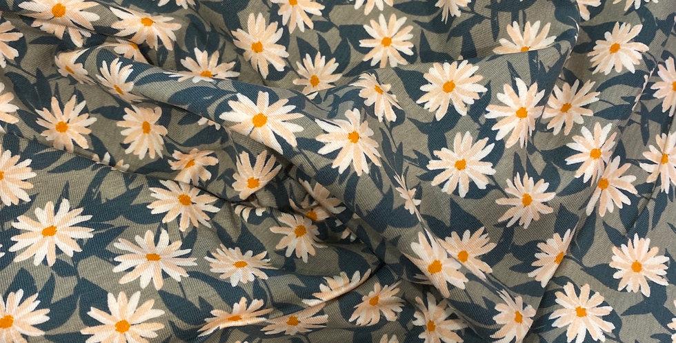 Art gallery fabrics mildreds pressed flowers organic cotton knit